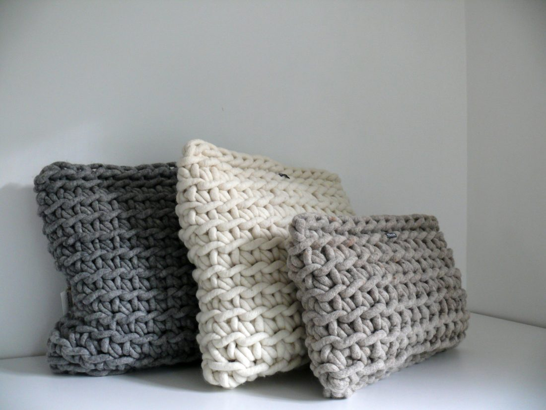 Hand-crocheted cushions