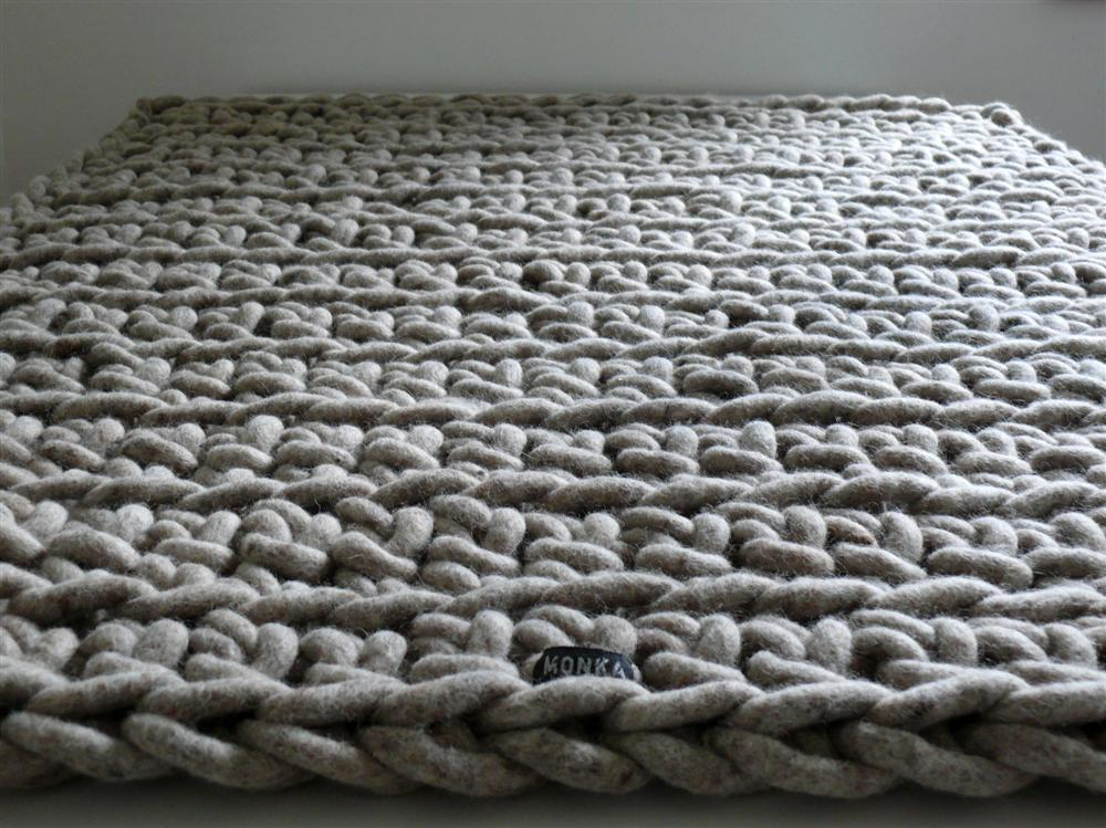 Hand-crocheted rug Awkward