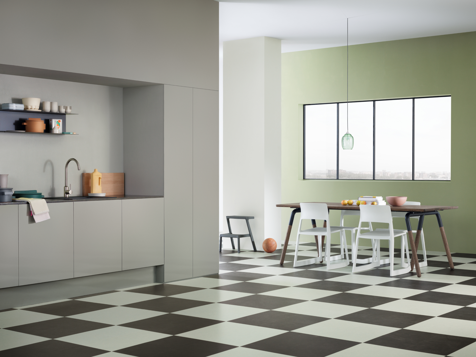 Forbo linoleum bodenbelag: marmoleum click interiorpark.
