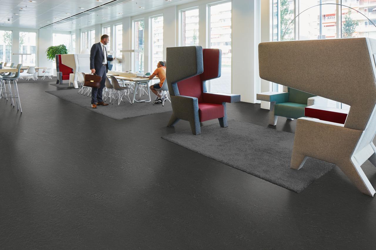 Forbo linoleum bodenbelag: marmoleum slate interiorpark.