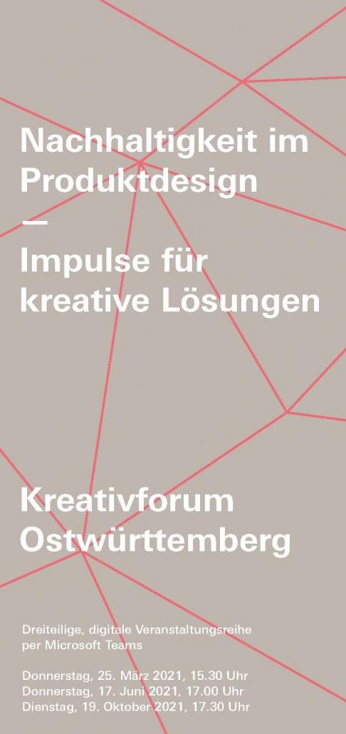 Flyer Kreativforum Ostwürttemberg 2021
